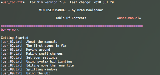 vim user-manual